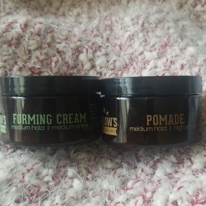 Lot of 2 Barlow's Forming Cream and Pomade Medium